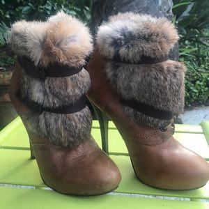 Fur trimmed heels